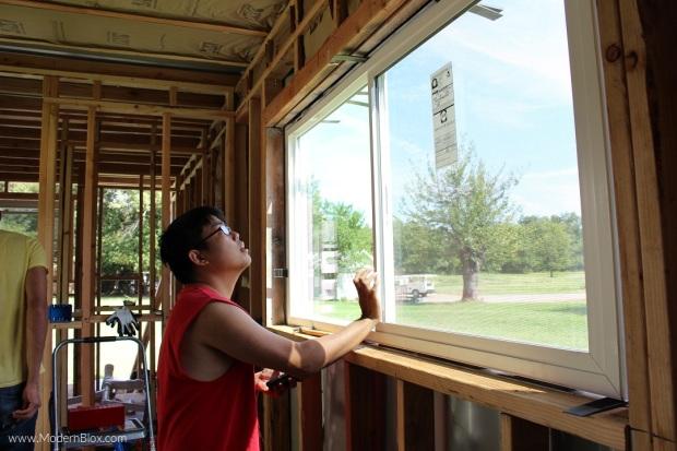 Ben Testing the Kitchen Window